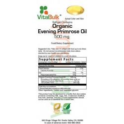 Organic Evening Primrose Oil 500 mg 100 capsules